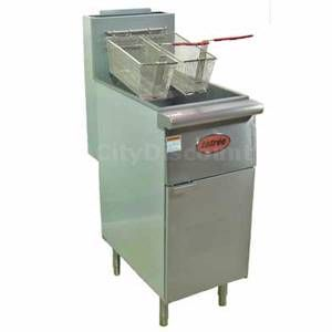 Entree 40lb LP Gas Restaurant Deep Fryer 2 Fry Baskets