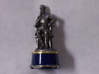 BEAUTIFUL FRANKLIN MINT 43MM PEWTER UNION BISHOP CHESS PIECE