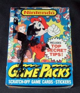 1989 Topps Nintendo Game Packs Trading Card Box 48 Packs