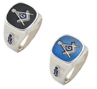 925 Sterling Silver Vermeil Gold Masonic Freemason Mason Ring