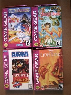 New Sega Game Gear Lot 4 Pack Sonic Spinball Lion King Jungle Book