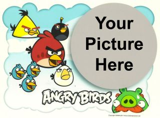 Angry Birds Photo Frame Edible Image Icing Cake Topper
