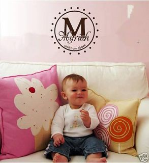 Giant Initial Baby Vinyl Wall Letter Word Decal Graphic