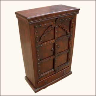 Rustic Armoire Kitchen Cabinet Table Buffet Chest Furniture New