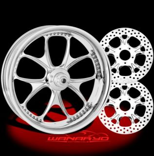 CHROME PERFORMANCE MACHINE GATLIN WHEELS, ROTORS, PULLEY TIRES HARLEY