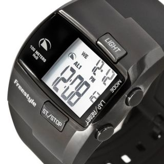 Digital FREESTYLE The Durbo Mens Watch Chronograph Black Rubber Band
