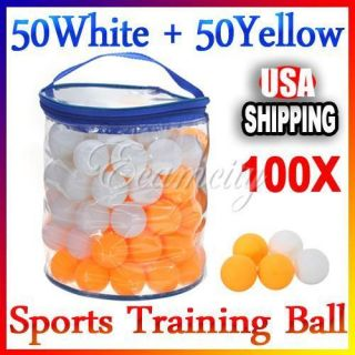100pcs One Star Ping Pong Ball 40mm Table Tennis Training Sports White