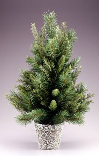 items 2 5 potted cedar pine artificial christmas tree unlit