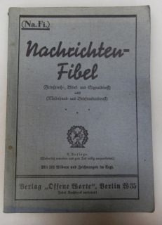 Original WW2 German Army Signal Communications Field Manual
