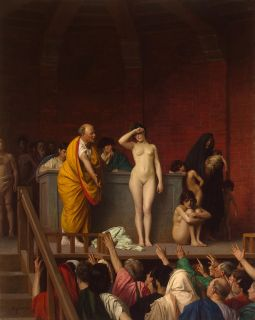 Jean Leon Gerome Oil Painting Repro Slave Auction