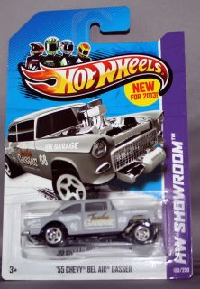 55 chevy bel air gasser hot wheels latest release slick car scale 1