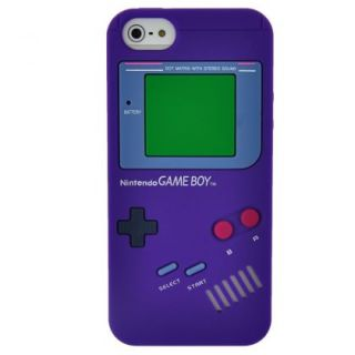 Purple Game Boy Style Silicone Case Cover Skin for iPhone 5 5g 5th