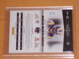 Mardy Gilyard 2011 National Treasures RC Rookie Auto Logo Patch SP 5 5