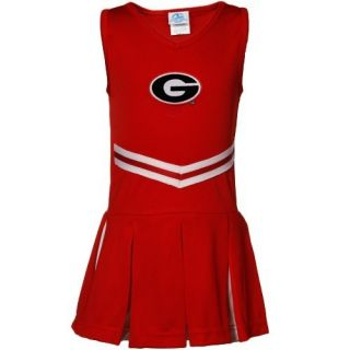 Georgia Bulldogs Toddler Girls Red 2 Piece Cheerleader Dress