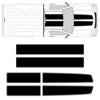 Chevy Colorado GMC Canyon EZ Rally Racing Stripes with Outline 3M