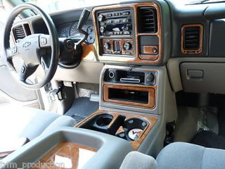 GMC SIERRA 1500 2500 3500 SLT INTERIOR WOOD DASH TRIM KIT 2003 2004