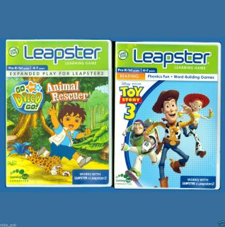 Go Diego Go ANIMAL RESCUER TOY STORY 3 Leap Frog Leapster 2 Learning