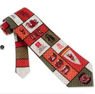 Mens Tie South Carolina Gamecocks Football New