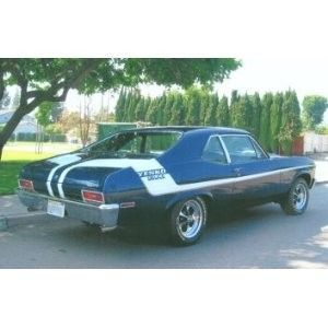 Yenko/Duece Racing Stripe Graphics Kit For 1970 Chevy Nova, Your Color