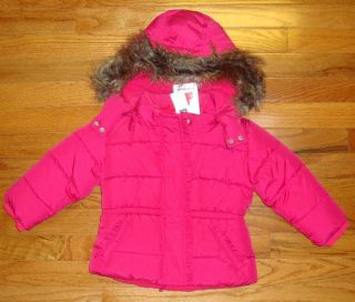 Baby Gap Girls Warmest Pink Faux Fur Coat 2T