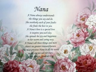 Nana Poem Personalized Gift for Birthday or Christmas