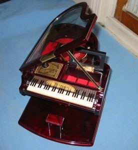 Vintage Kings Grand Piano Music Jewelry Box Plays Piano Man 12 x 8