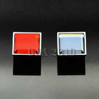 Modern Square Crystal Glass Cabinet Cupboard Door Drawer Pull