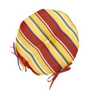 Greendale Home Fashions Round Carnival Stripe Outdoor Chair Cushions