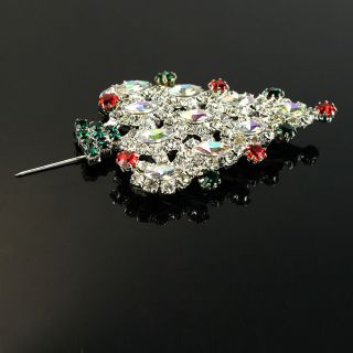 New Christmas Tree Shaped Rhinestone 3 Pcs Brooch Pin Fashion