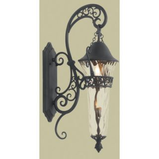 Kalco Anastasia Two Light Outdoor Wall Lantern in Textured Matte Black