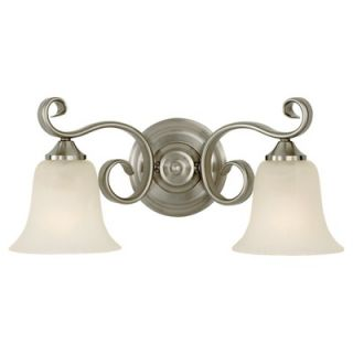 Norwell Lighting Elizabeth 9.5 Two Light Bath Vanity   8952 BN FL