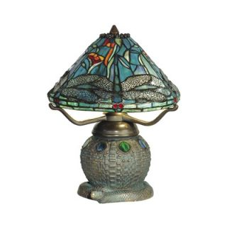 Dale Tiffany 16 Two Light Table Lamp in Dark Antique Bronze Verde