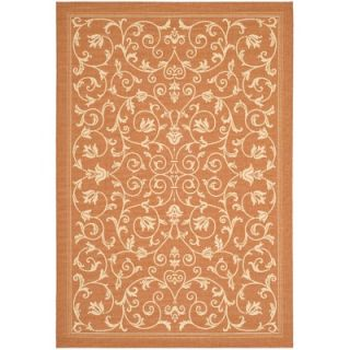 Safavieh Courtyard Terracotta/Natural Persian Rug   CY2098 3202