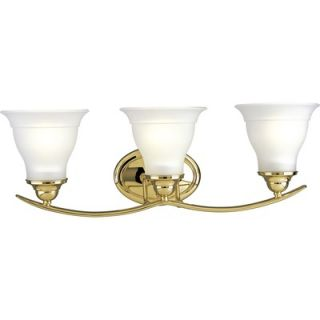 Progress Lighting Trinity Vanity Light in Polished Brass   P3192 10