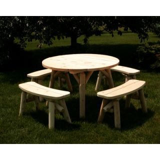 Moon Valley Rustic 5 Piece Dining Set