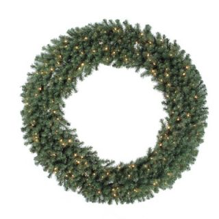 Evergreen Fir Wreath with 100 Multi Indoor/Outdoor Lights