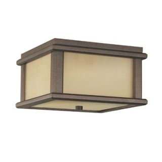 Feiss Monterey Coast Flush Mount Outdoor Lantern in Corithian Bronze