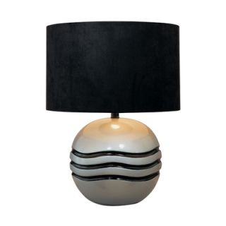Minka Ambience One Light Accent Table Lamp in Metallic Silver and