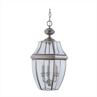 Sea Gull Lighting Classic Outdoor Brass Pendant in Antique Brushed