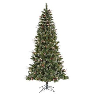 Vickerman 9 Snowtip Berry/Vine Artificial Christmas Tree with Clear