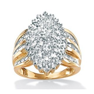 Palm Beach Jewelry Diamond Marquise Shaped Ring