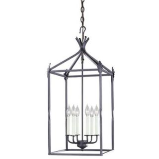World Imports Lighting Iron 6 Light Hanging Lantern   61405 42