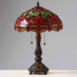 Warehouse of Tiffany Red Dragonfly Table Lamp   NC142777 615M