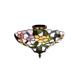 Dale Tiffany Peony Semi Flush Mount   7966/3LTF