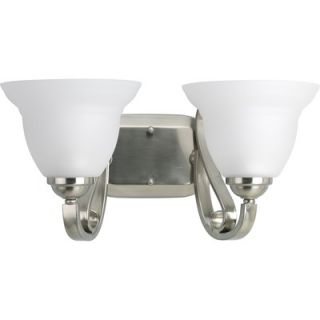 Progress Lighting Torino Two Light Wall Bracket in Brushed Nickel