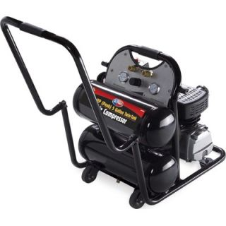 All Power America 4.6 Gallon Mobile Twin Tank Air Compressor