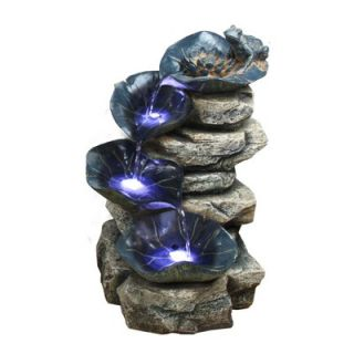 Alpine 4 Tier Rock Fountain with LED Lights