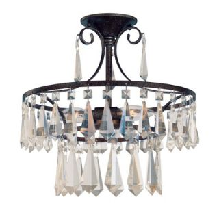 World Imports Lighting Lille 3 Light Semi Flush Mount