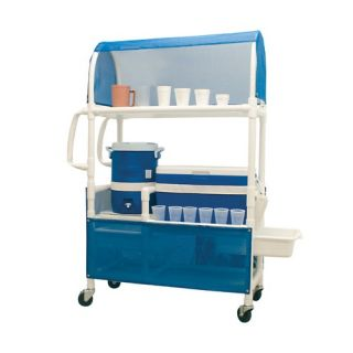 Hydration Cart with 48 Quart Ice Chest, 5 Gallon Water Cooler, Side