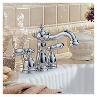 Delta Victorian Mini Widespread Bathroom Faucet with Double Lever